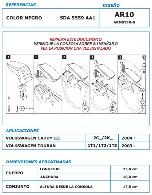 Manual-instalación-apoyabrazos-vw-caddy-3-touran
